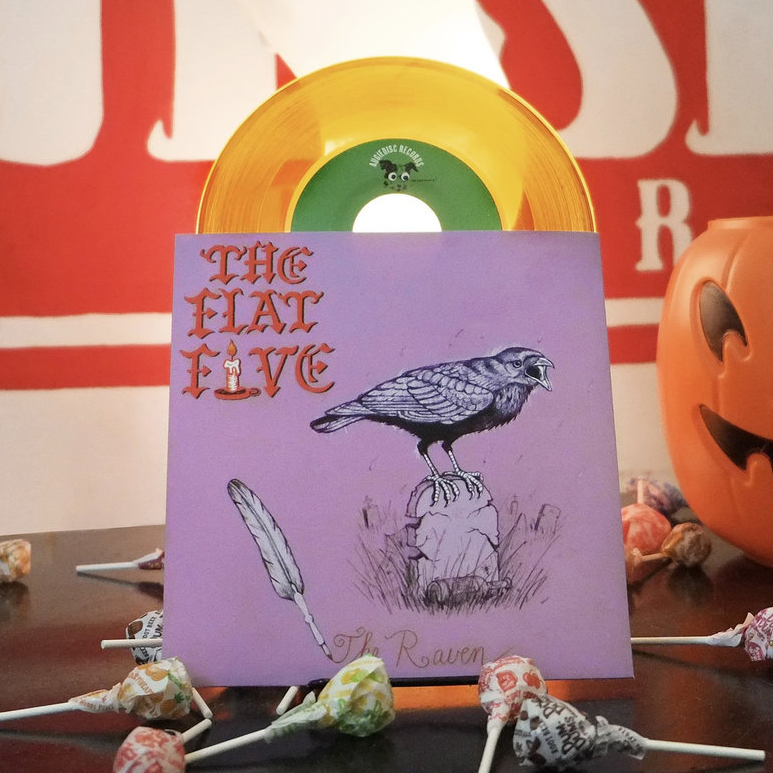"Flat five the raven 7"" single"