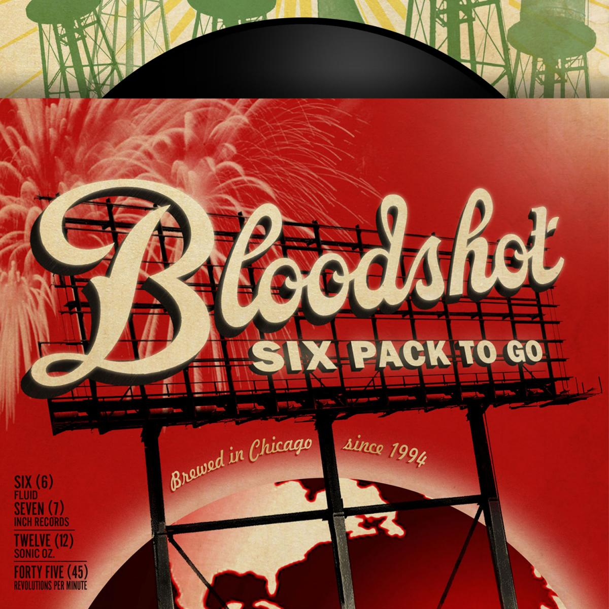 "Bloodshot Six Pack To Go 7"" Single Drinking Songs Box Set"
