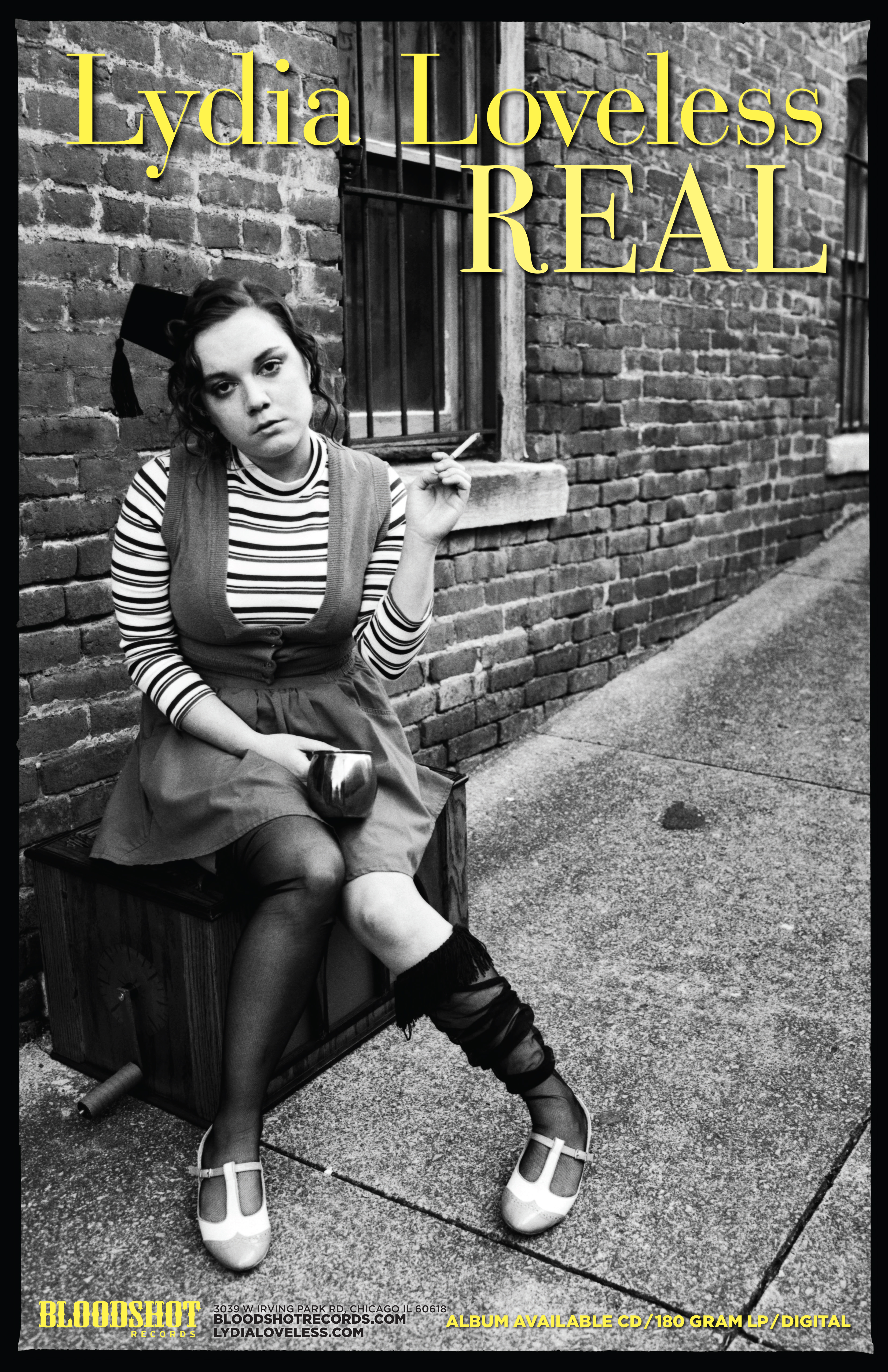 Lydia Loveless Real Album Poster Bloodshot Records
