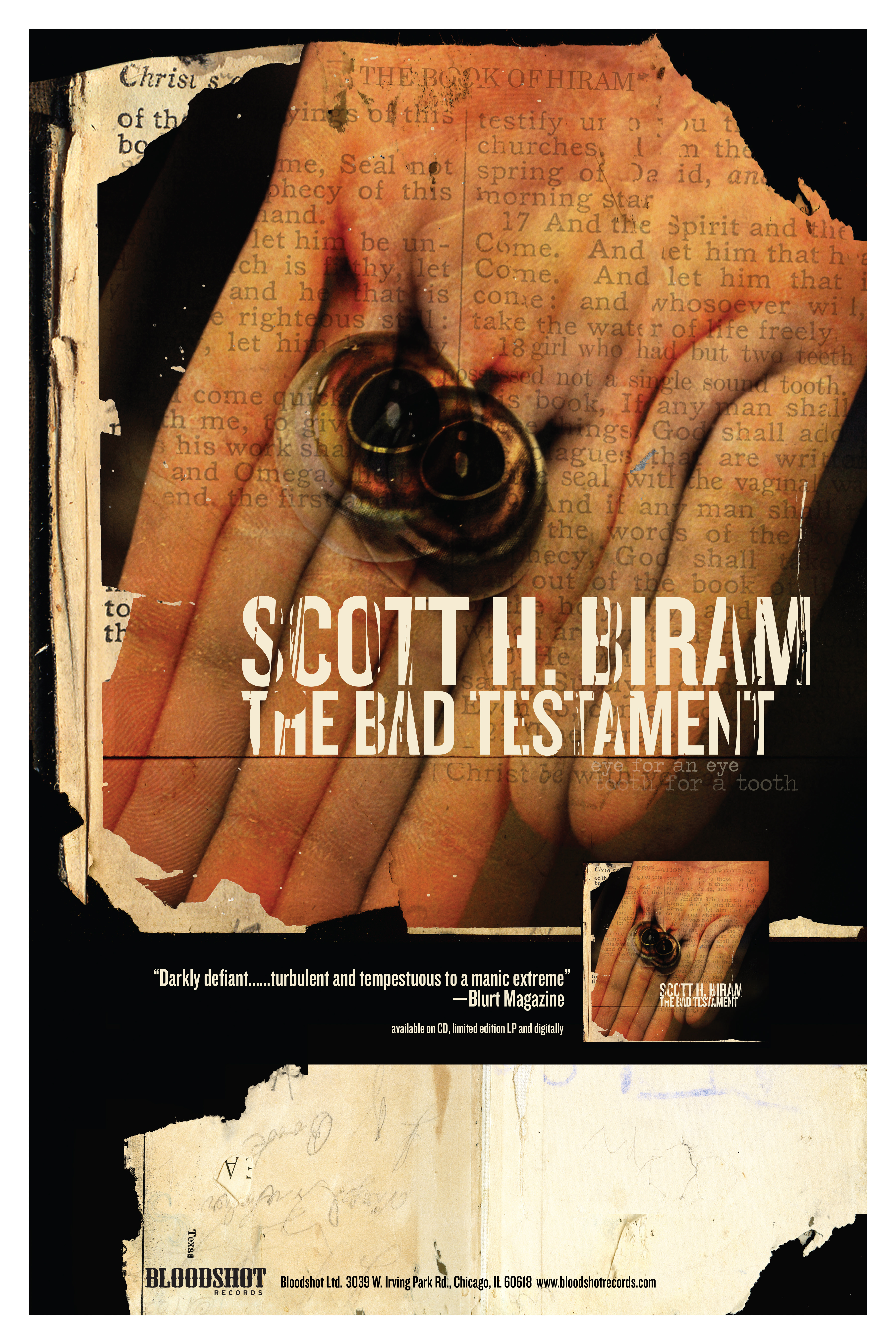 Scott H. Biram The Bad Testament Poster