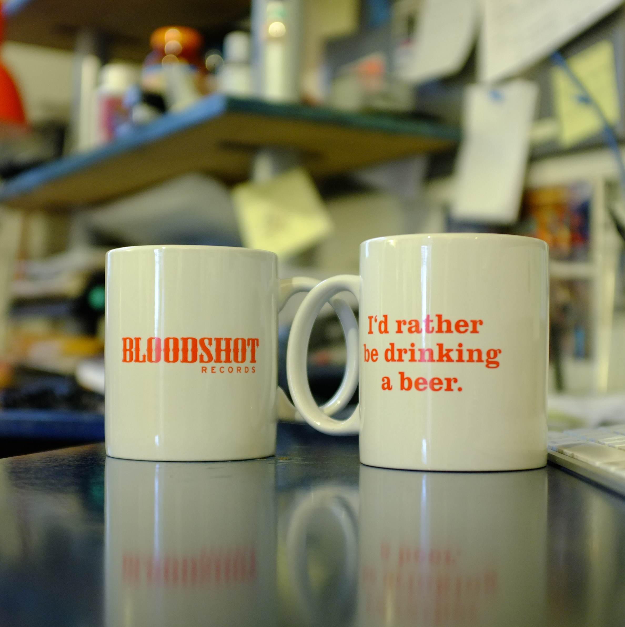 Bloodshot Records Coffee Mug I'd Rather Be Drinking A Beer