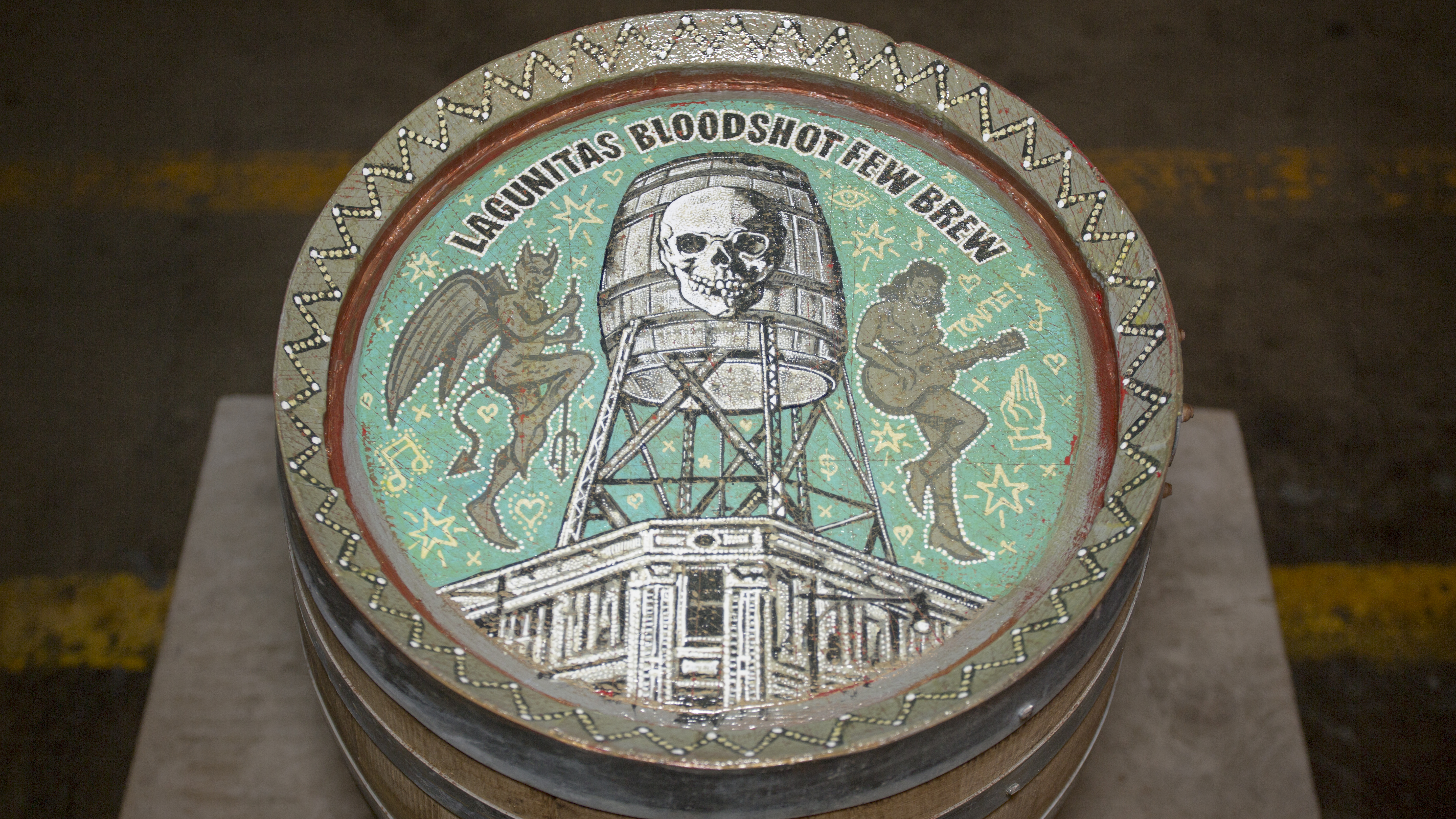 Lagunitas Bloodshot Records Few Brew Jon Langford Barrel