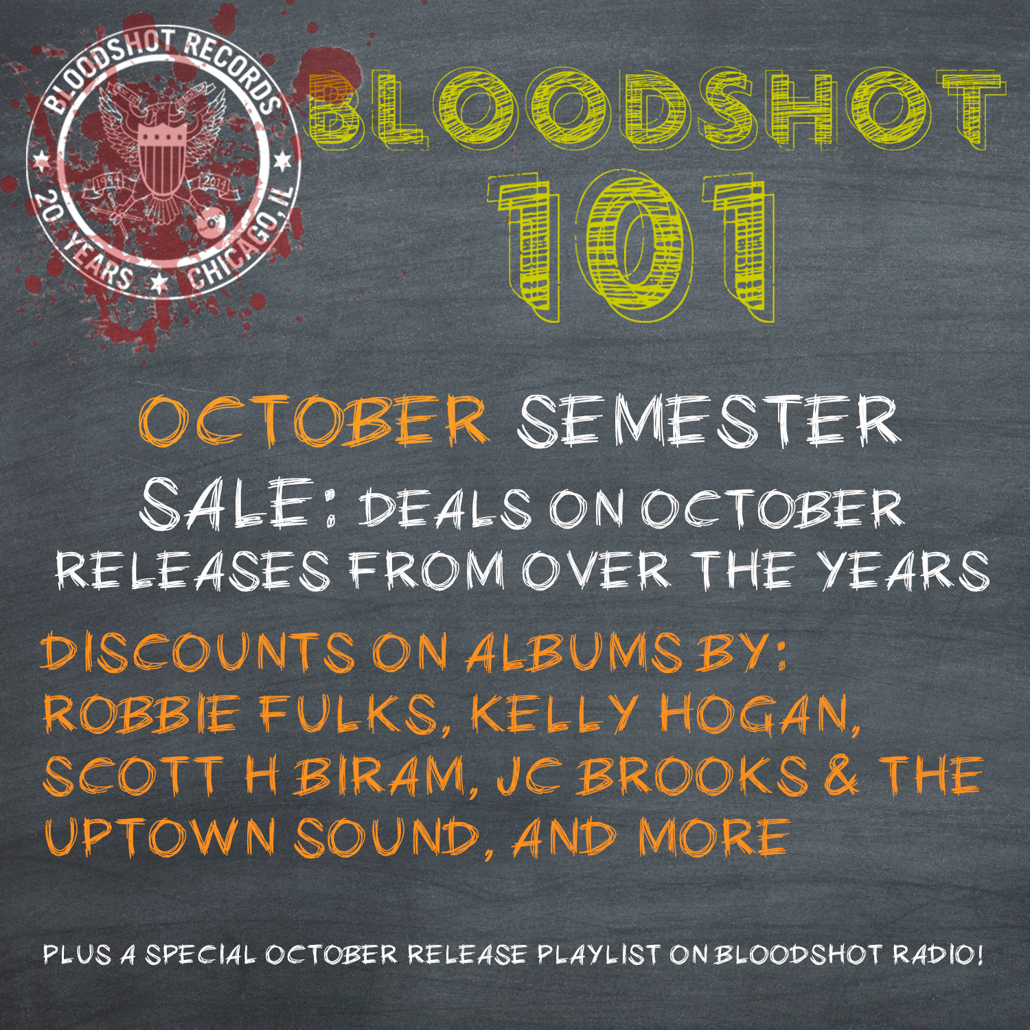 Bloodshot 101 October Sale