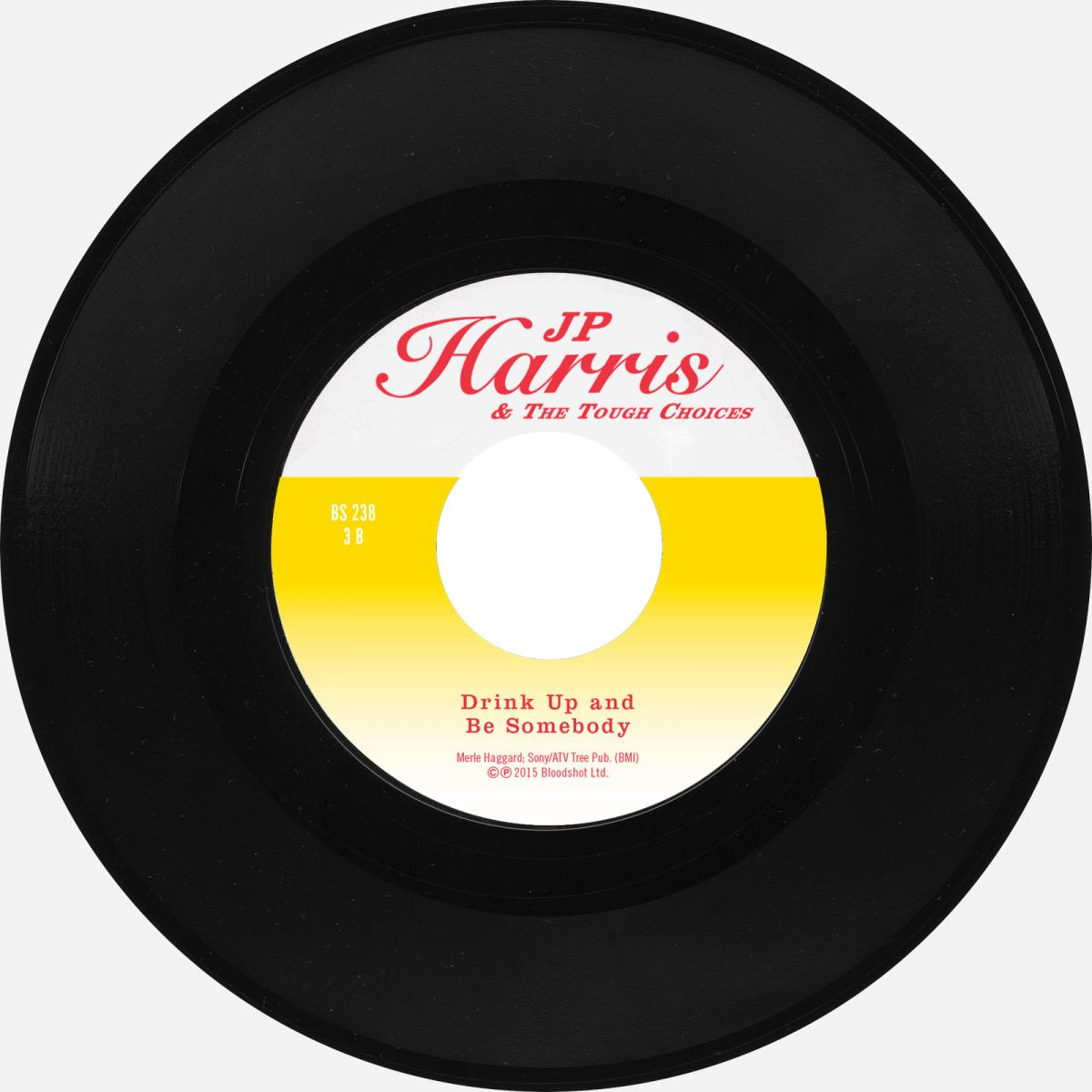 """JP Harris Merle Haggard Drink Up and Be Somebody Bloodshot Six Pack to Go 7"""" Single"""