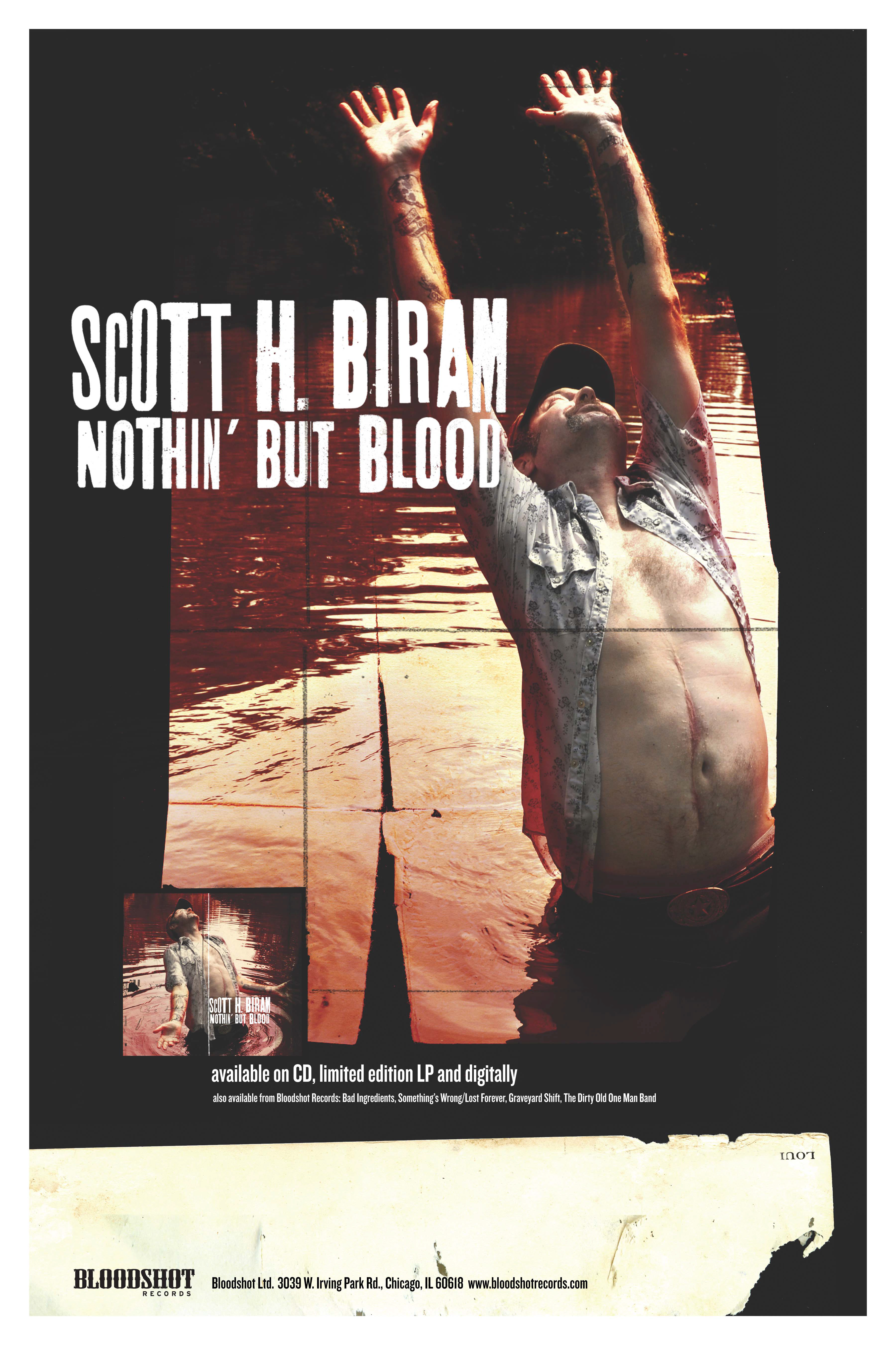 Scott H Biram Nothin But Blood Poster