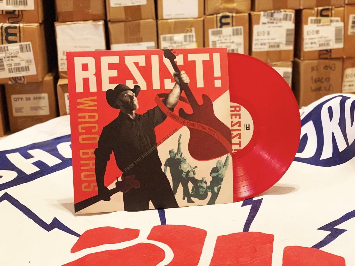 Waco Brothers RESIST red vinyl LP
