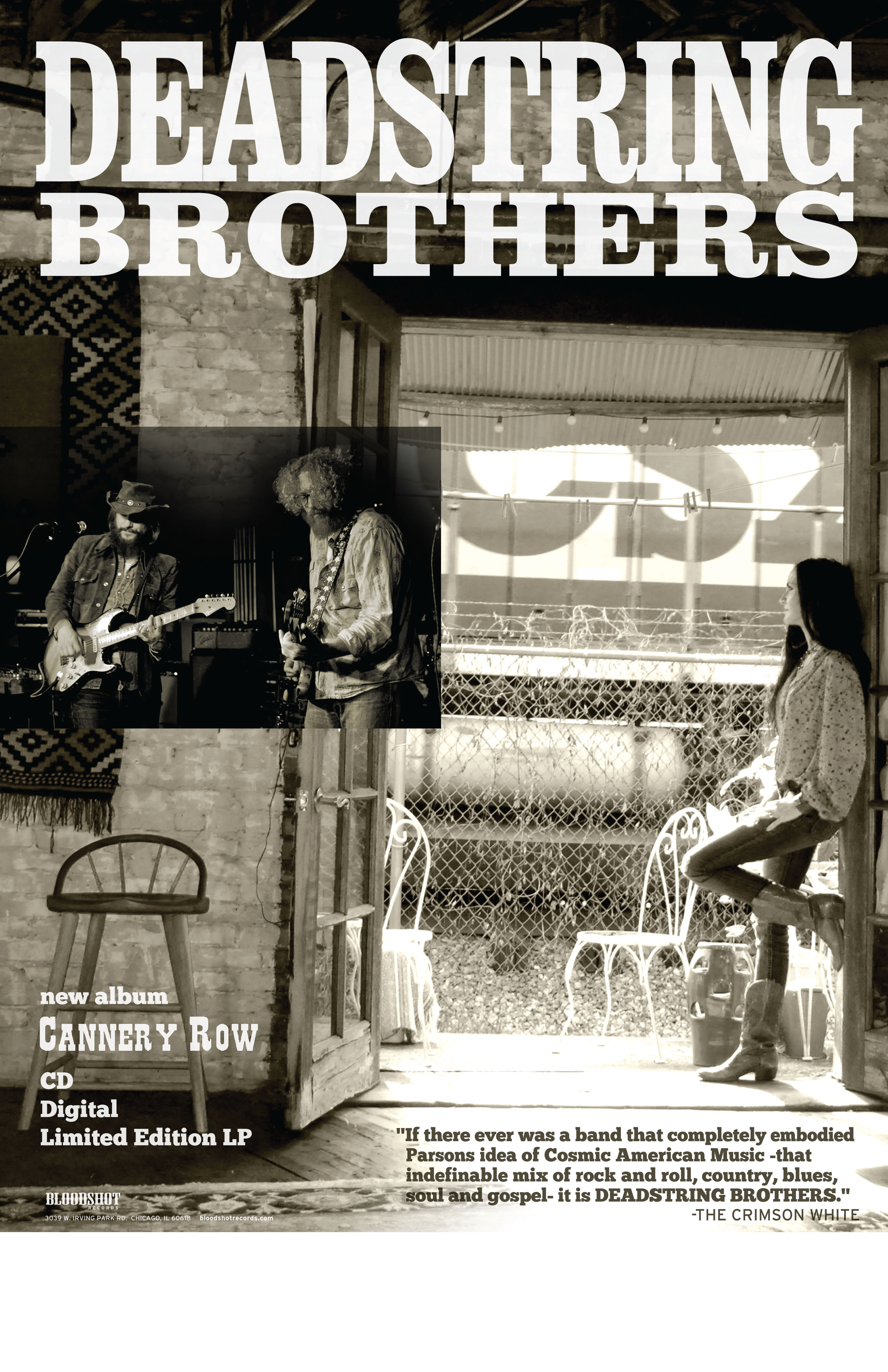 Deadstring Brothers Cannery Row Poster