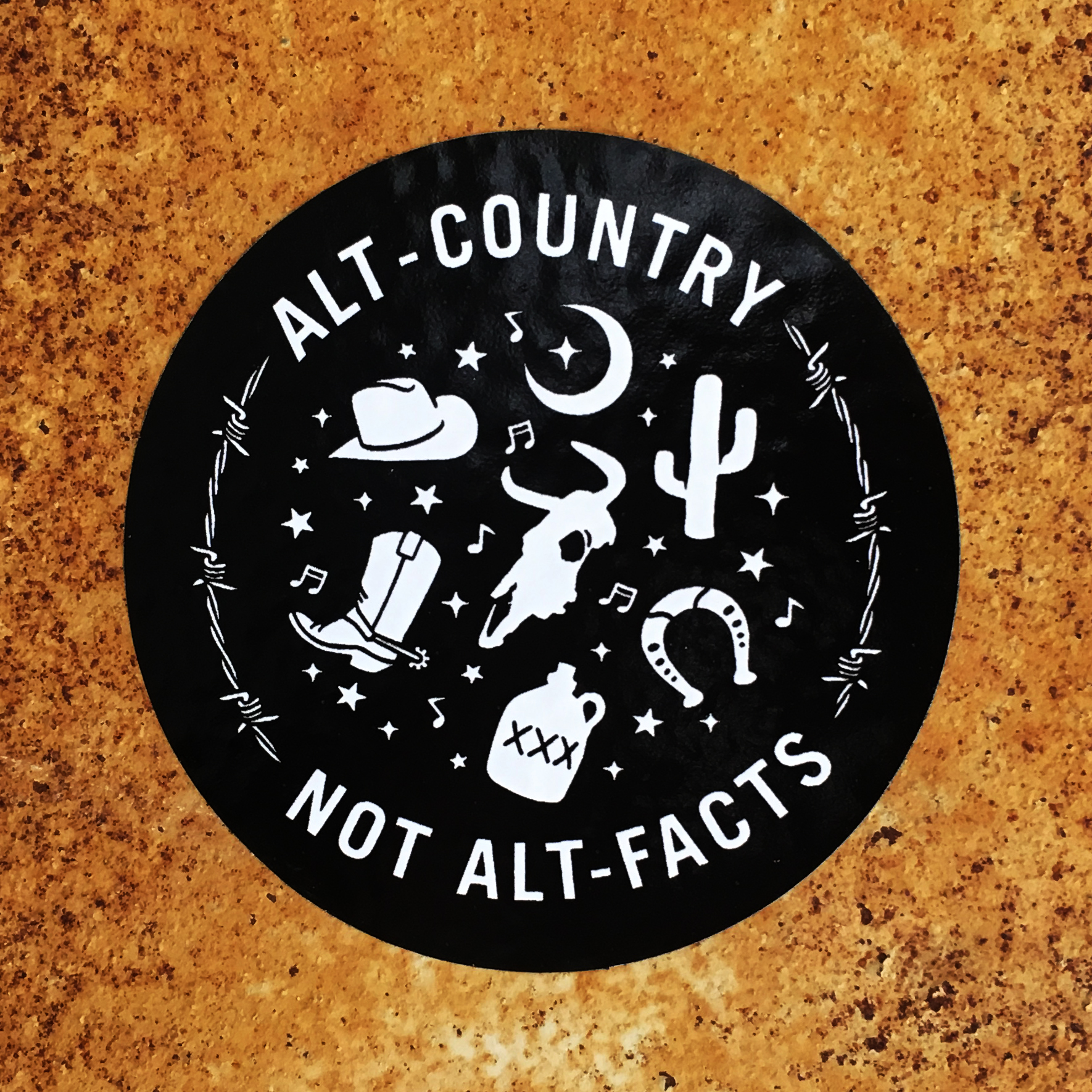 Alt Country Not Alt Facts Sticker