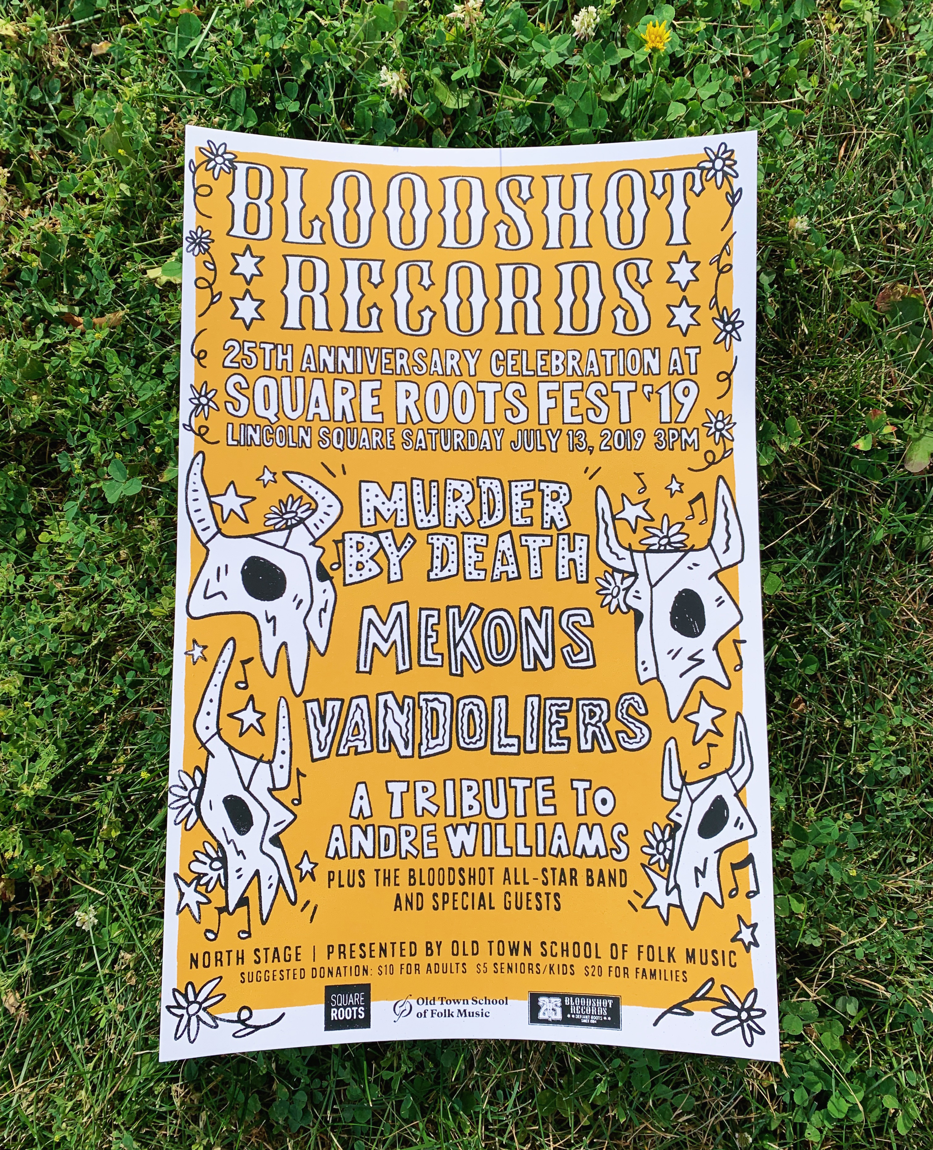 Bloodshot 25th Anniversary celebration at Square Roots Fest poster