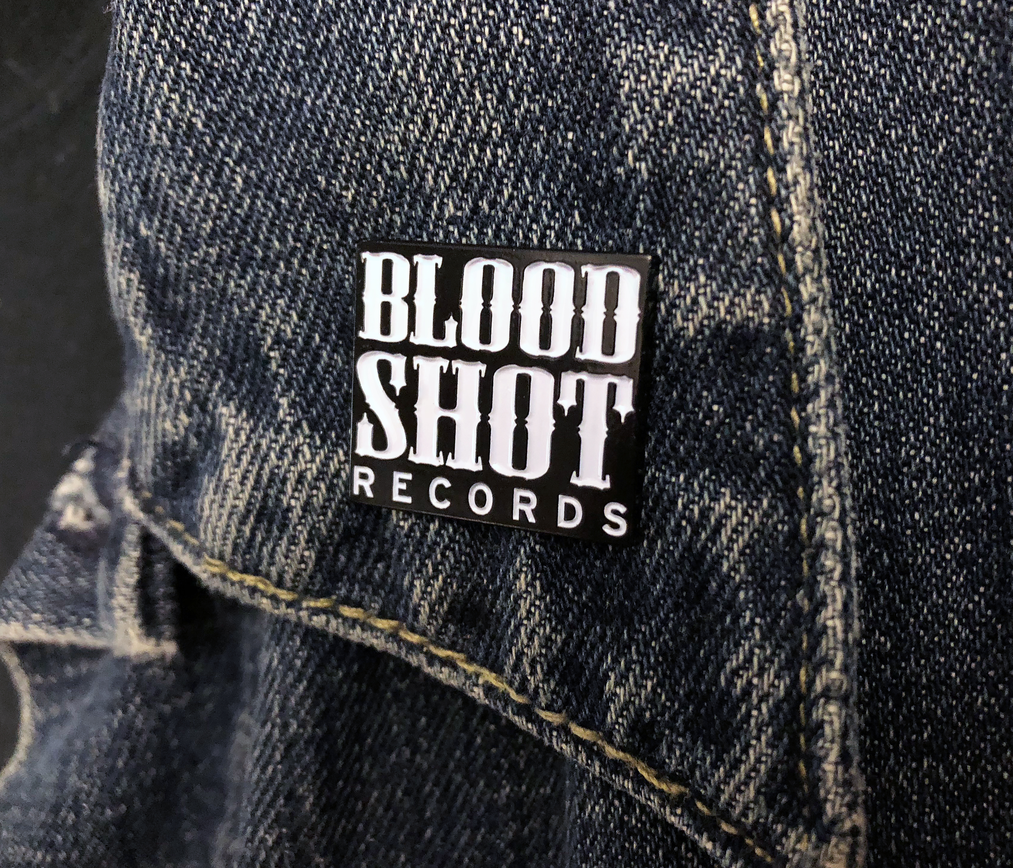 Bloodshot Records Logo Enamel Pin
