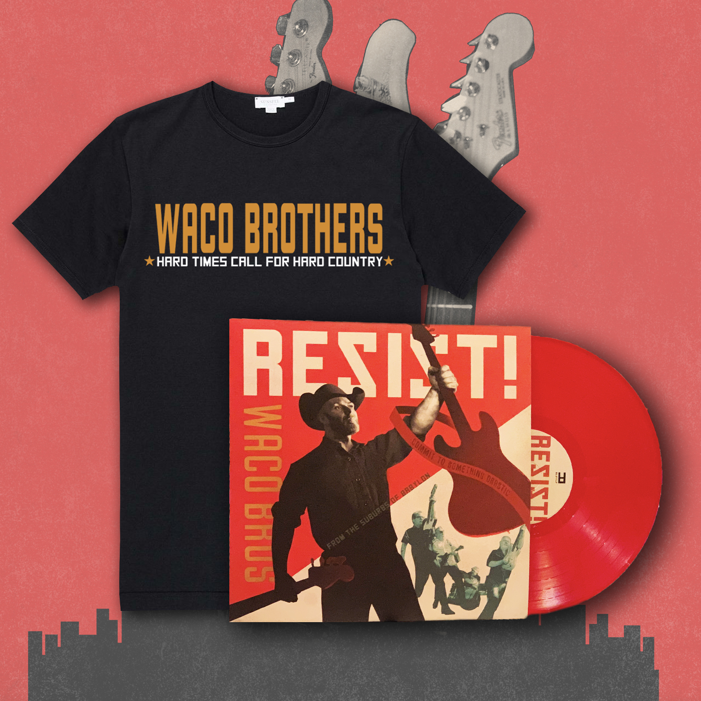Waco Brothers RESIST T-Shirt Bundle