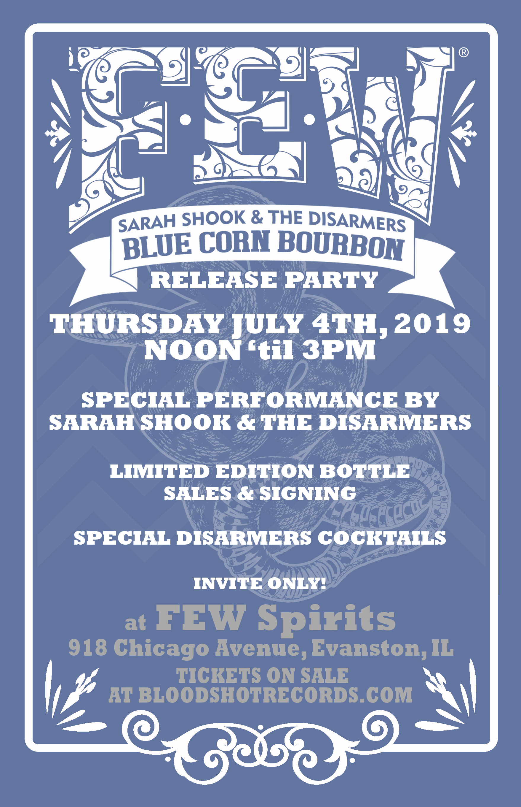 FEW Sarah Shook and the Disarmers Blue Corn Bourbon Release Party