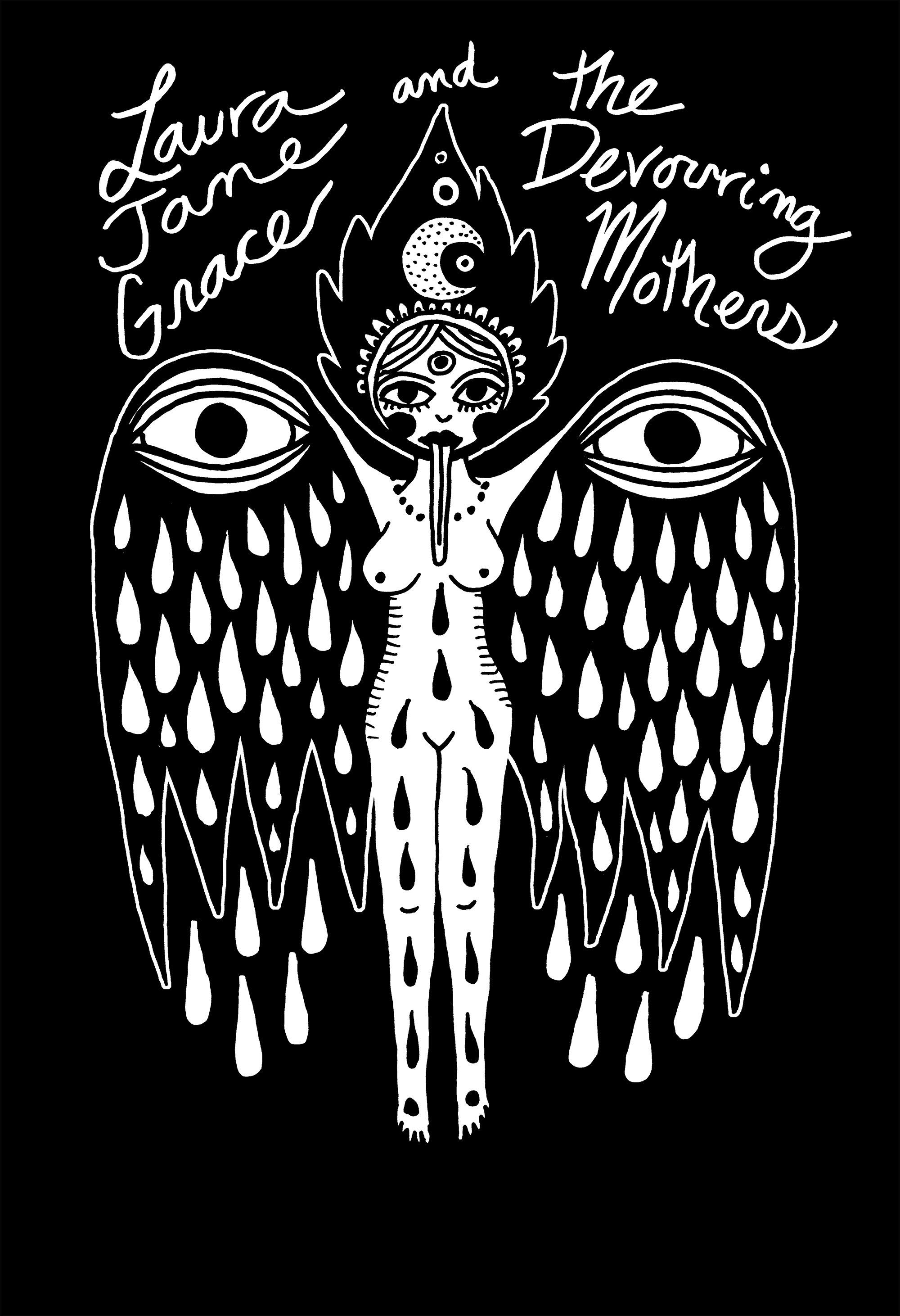 Laura Jane Grace and the Devouring Mothers Angel T-Shirt Bloodshot Records