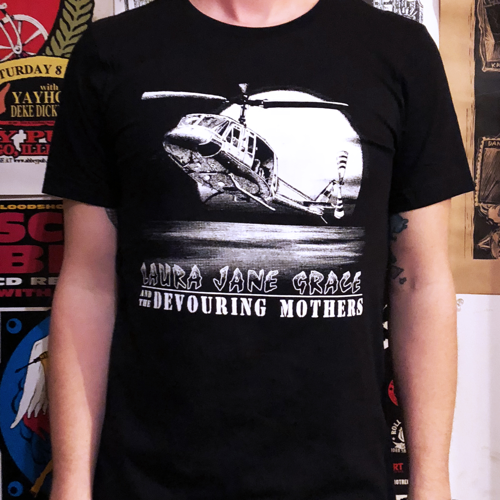 Laura Jane Grace & the Devouring Mothers Helicopter T-Shirt