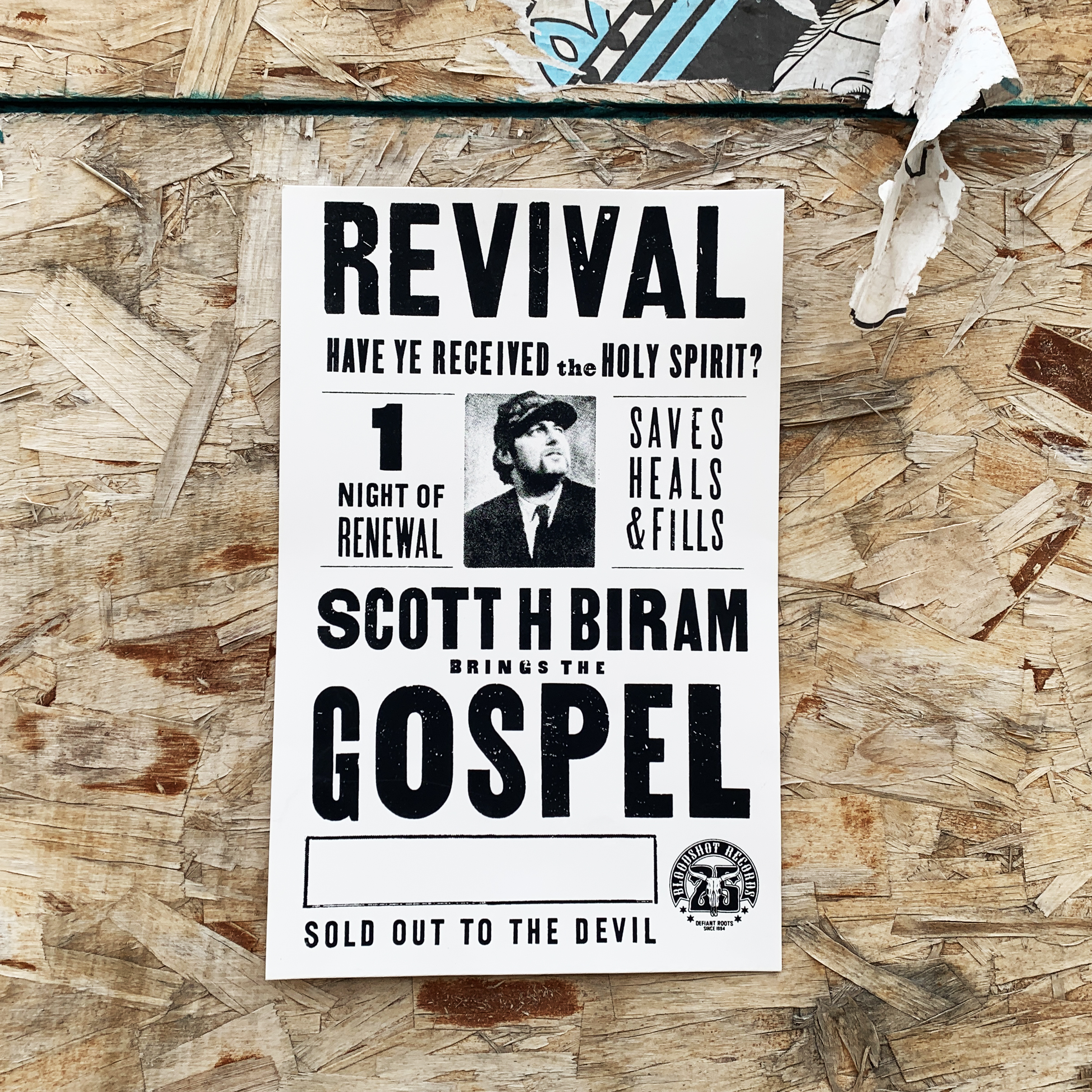 Scott H Biram Sold Out to the Devil Poster