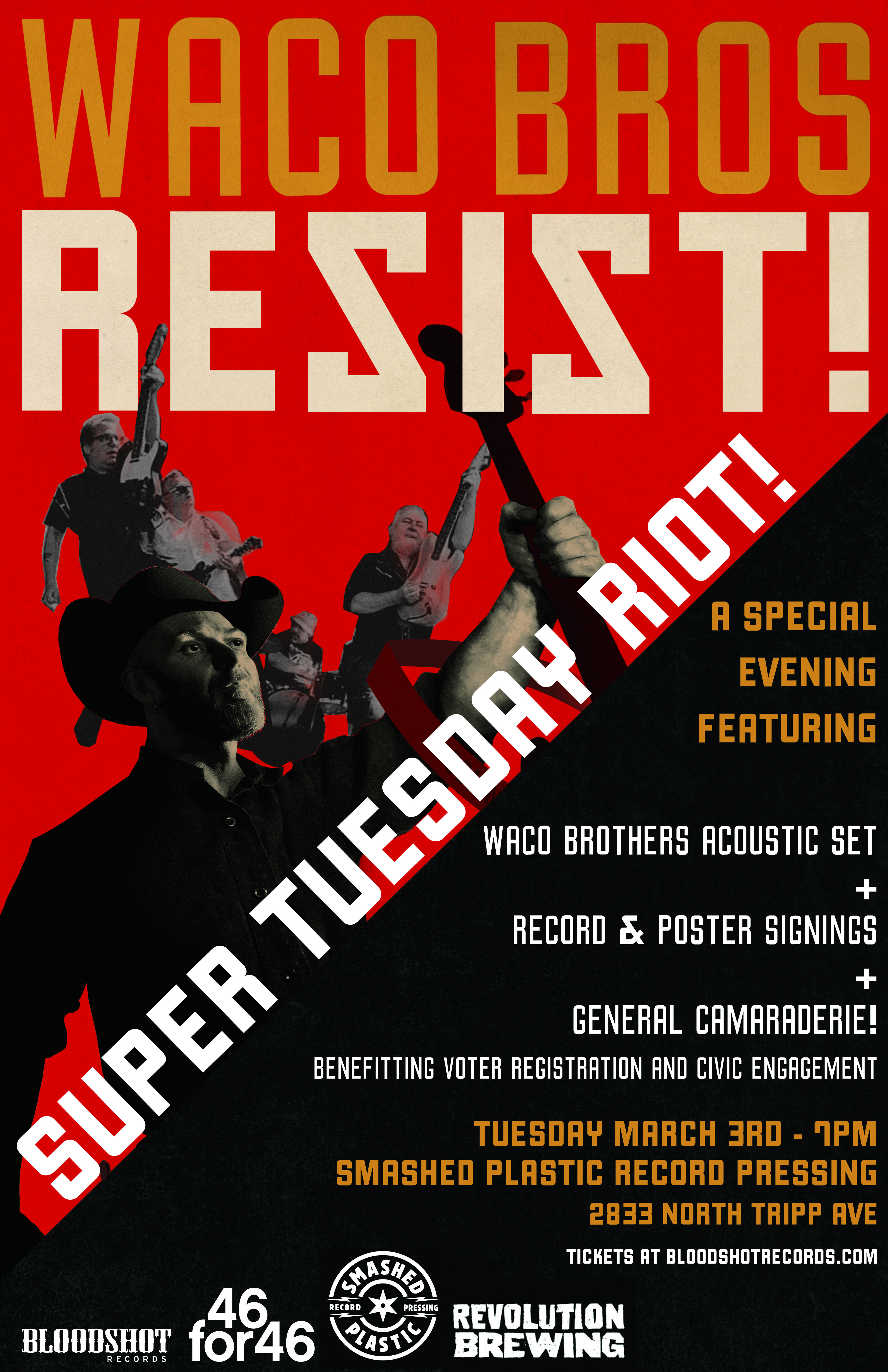 Waco Brothers Super Tuesday Riot