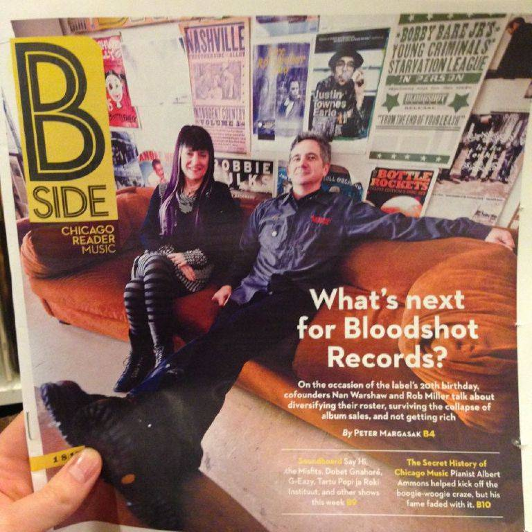 Bloodshot Records Is the Chicago Reader B-Side Cover Story