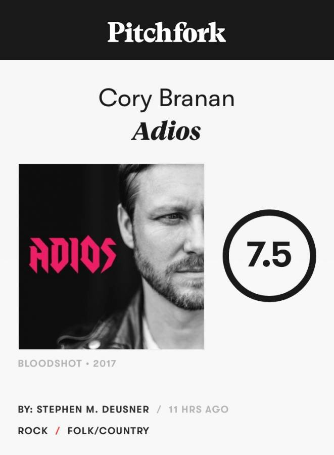 Hey They Like It Pitchfork Gives Cory Branan Thumbs Up