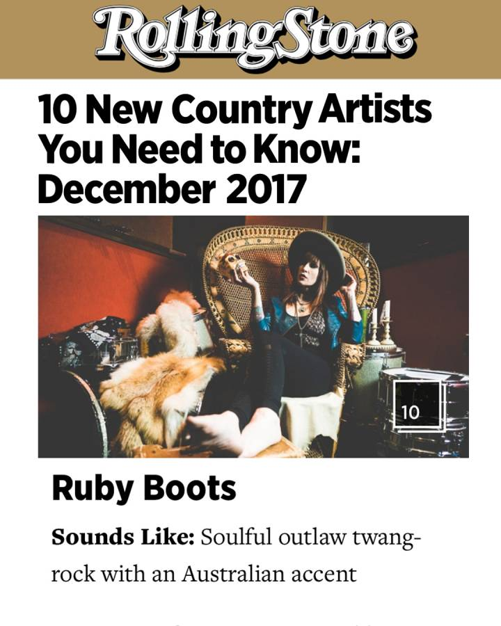 Ruby Boots Rolling Stone Bloodshot Records