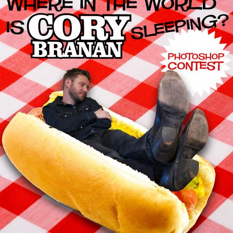 Where in the World Is Cory Branan Sleeping Photoshop contest