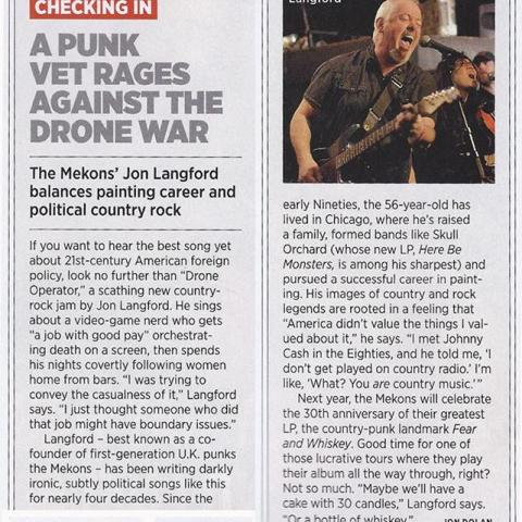 Jon Langford Rolling Stone May 2014