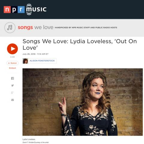 Lydia Loveless NPR Music Out On Love