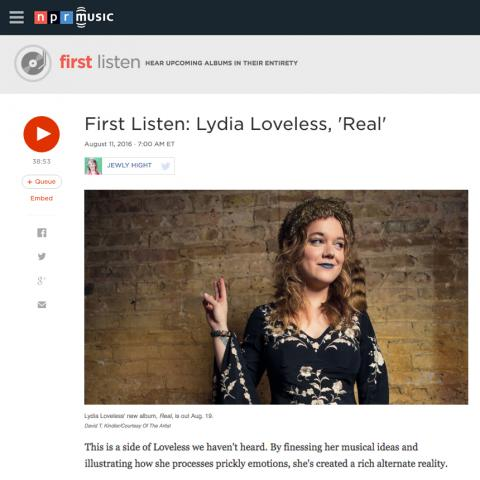 Lydia Loveless Real NPR First Listen