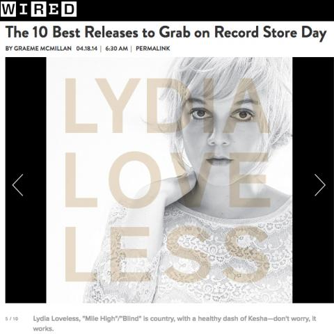 Lydia Loveless Wired Record Store Day