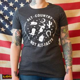 Alt-Country Not Alt-Facts Ladies T-Shirt