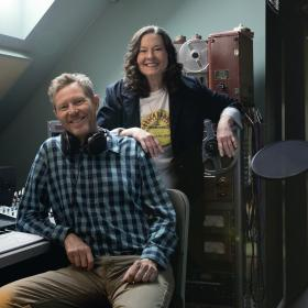 Robbie Fulks Linda Gail Lewis Studio Photo 2018 by Andy Goodwin