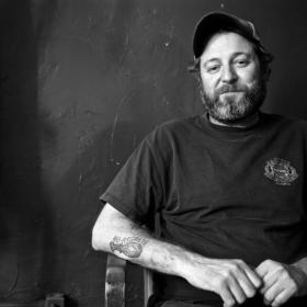 Scott H Biram BW Horizontal Photo by Nate Burrell