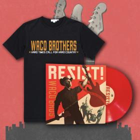 Waco Brothers RESIST! LP + T-Shirt Bundle