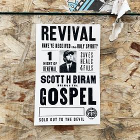 Rev. Biram Saves! Screen Printed Poster