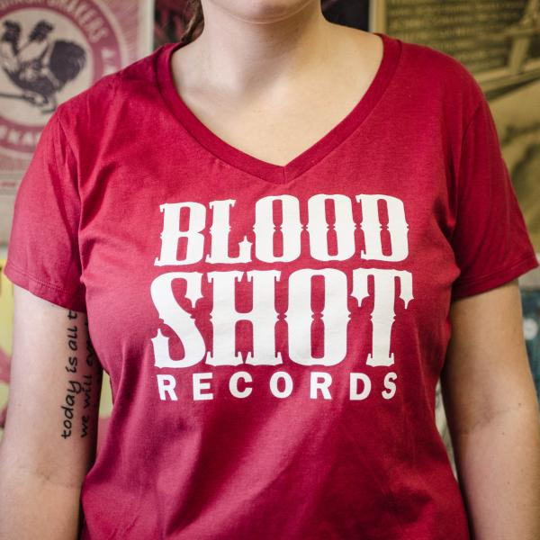 Bloodshot Logo Ladies Girls T Shirt