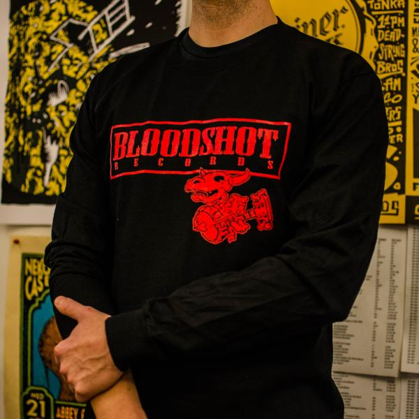 Bloodshot Records Logo Long Sleeve T-shirt