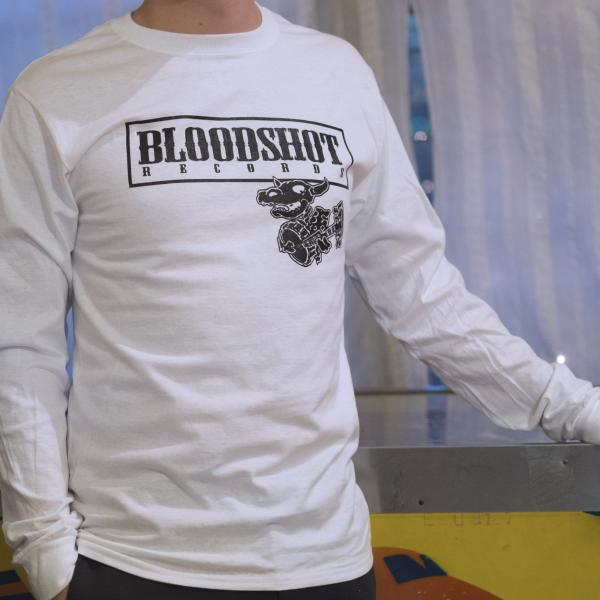 Bloodshot Records White Long Sleeve T-Shirt