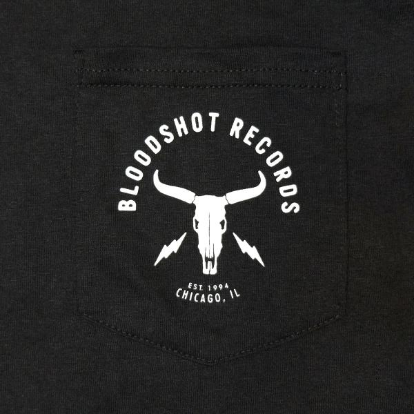 Bloodshot Records Skull and Bolts Pocket T-Shirt