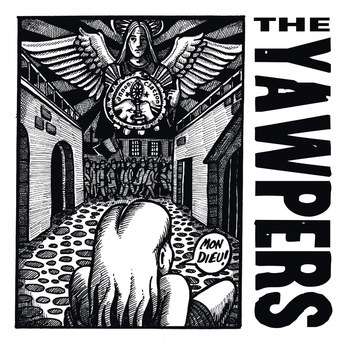 Yawpers Mon Dieu Ace of Spaces 7 inch single album art